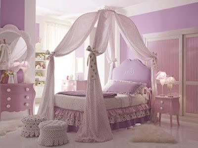 ห้องนอนเด็กสีม่วงอ่อน