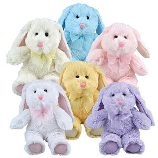 Plush Floppy-Eared Easter Bunnies