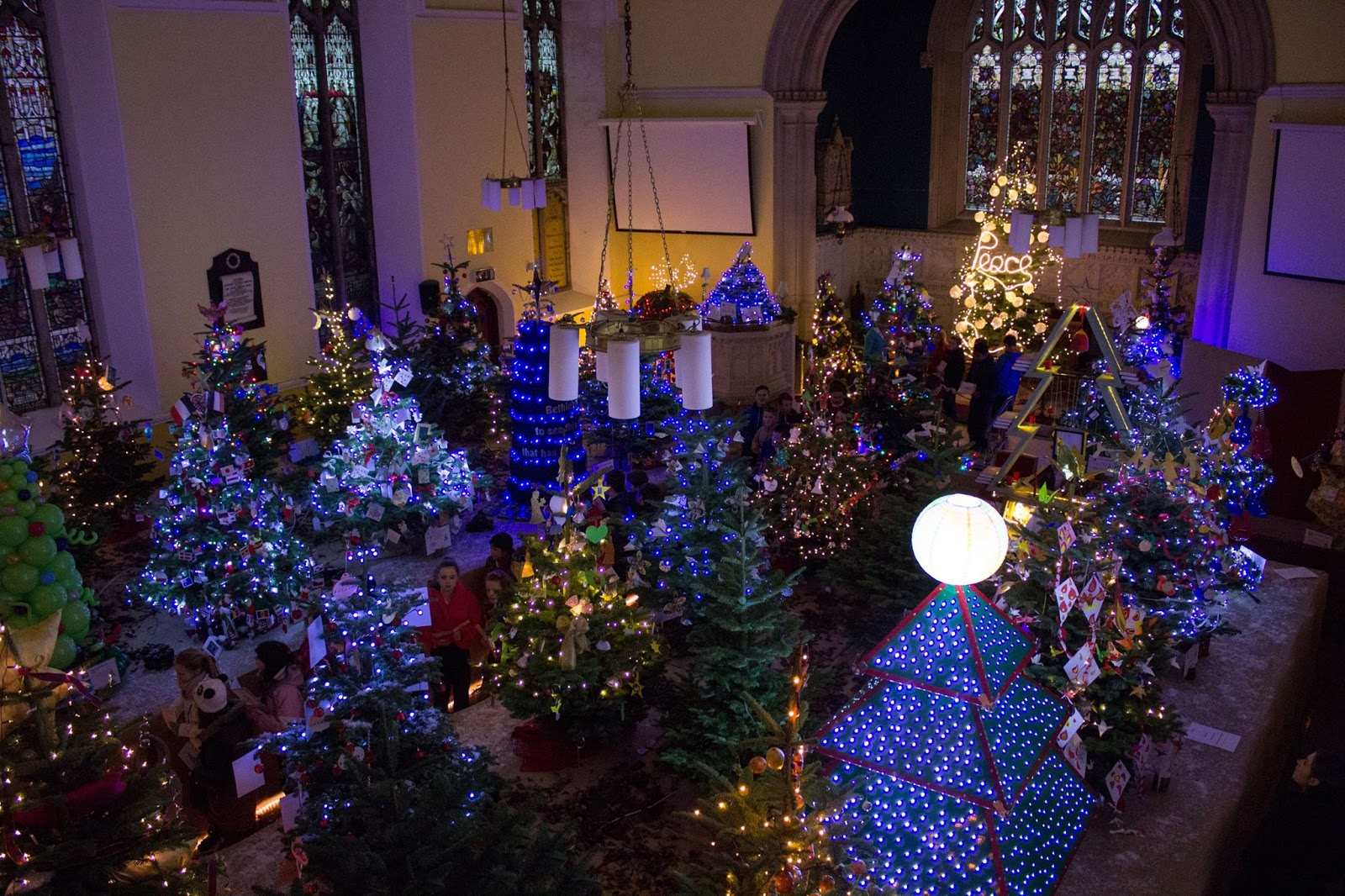 Shankill Online: The Christmas Story In Trees At St. James