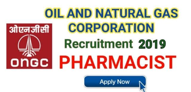 ONGC Pharmacist Recruitment 2019 | Apply Now ongcindia.com