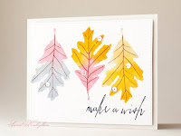 Greeting card with Leaf Prints from Papertrey Ink by Sweet Kobylkin