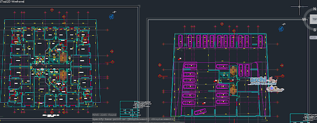 Residential Building constructing in AutoCAD