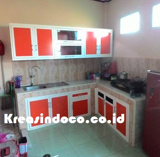 Kitchen Set Warna Coklat: Kitchen Set Aluminium Acp Dengan Warna Ngejreng
