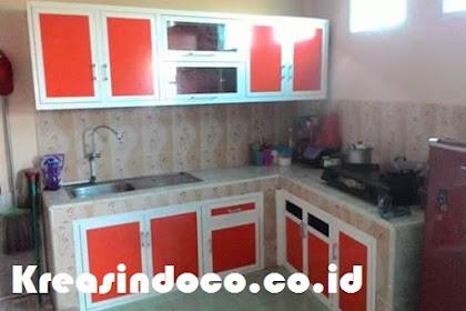 Kitchen Set Aluminium Acp Dengan Warna Ngejreng