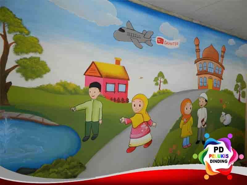Jasa lukis dinding tk pelukis dinding indonesia for Contoh lukisan mural tadika