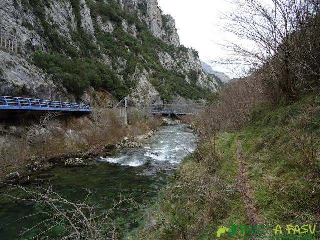Ruta a la Pica de Peñamellera: Segundo puente tras Niserias