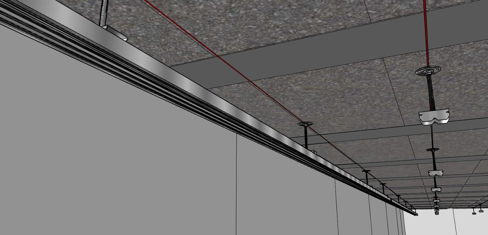 Comment faire un plafond suspendu en - Refaire un plafond en placo ...