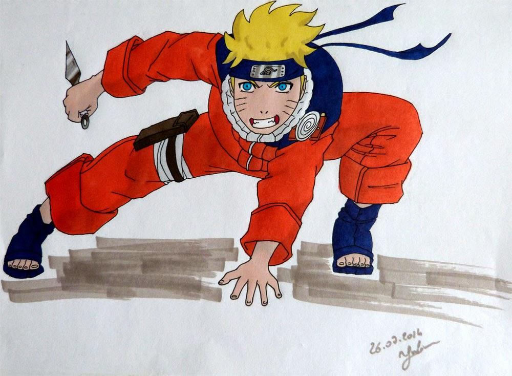 Naruto color aux promarkers juju gribouille - Naruto dessin couleur ...