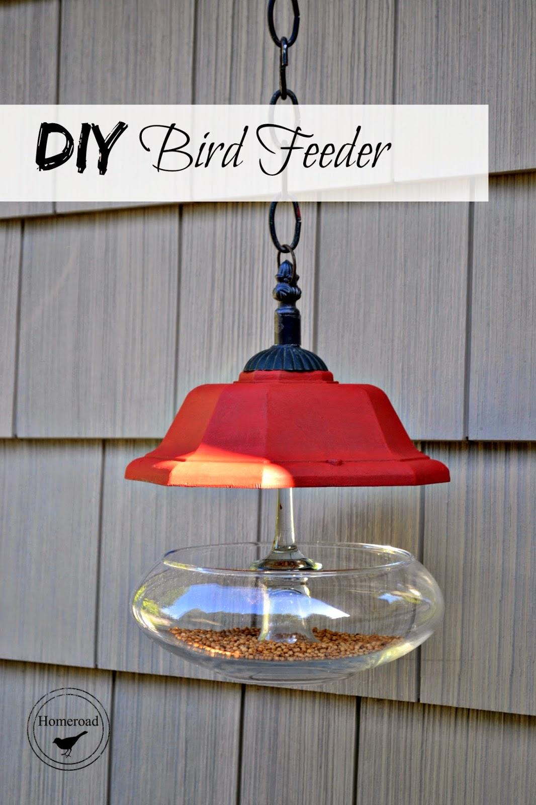 DIY Junky Bird Feeder www.homeroad.net