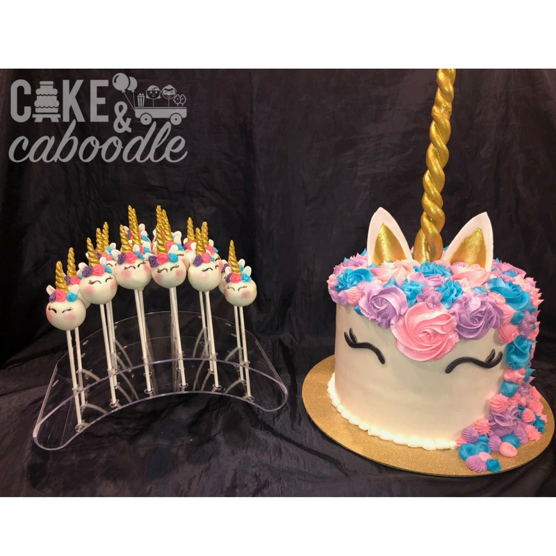 Marvelous Unicorn Cake And Cake Pops Cake And Caboodle Funny Birthday Cards Online Alyptdamsfinfo