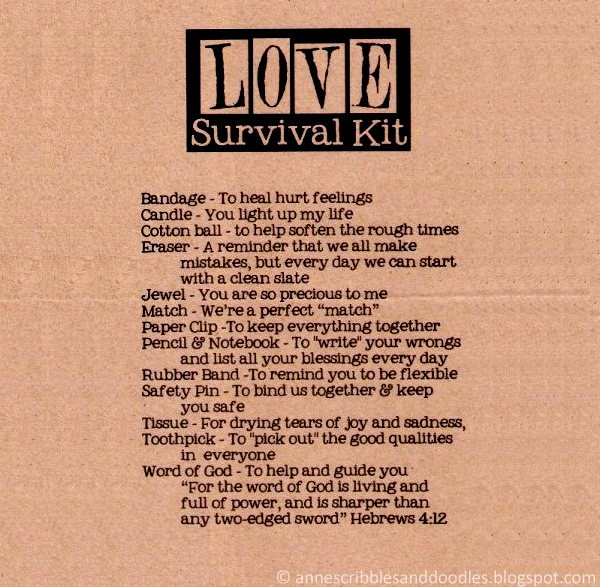 Papemelroti Gift Shop: Love Survival Kit | Anne's Scribbles and Doodles