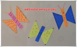Resultado de imagem para como fazer borboleta com formas geométricas