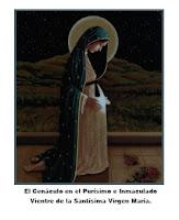 El Cenáculo en el Purísimo e Inmaculado Vientre de la Santísima Virgen María