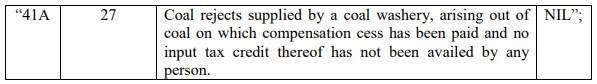 Notification No. 1/2017-Compensation Cess (Rate) dated the 28th June 2017