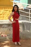 Telugu Actress Zahida Sam Latest Pos in Red Gown at RF Films New Movie Opening  0001.JPG