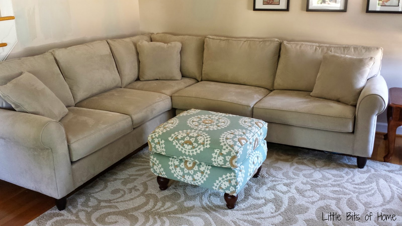 havertys newport sofa table roundabout little bits of home living room makeover furniture edition