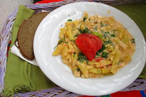 kapros-tárkonyos  zöldbab főzelék