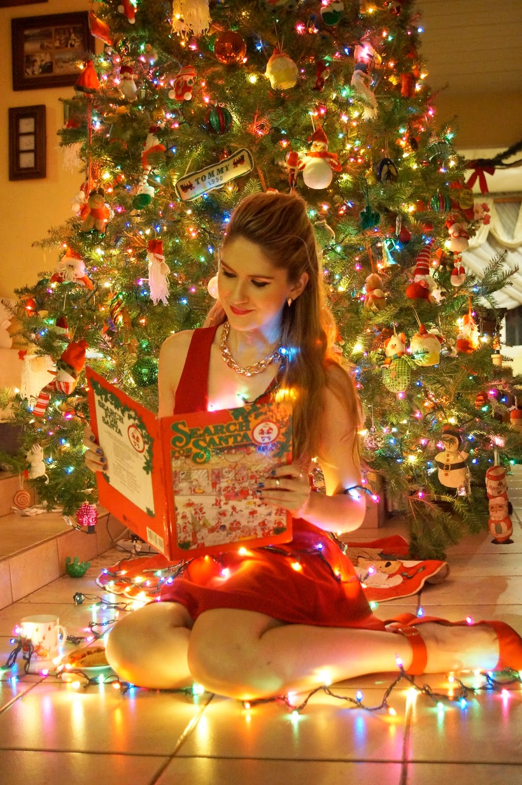 Relax and Read a Christmas Book by the tree