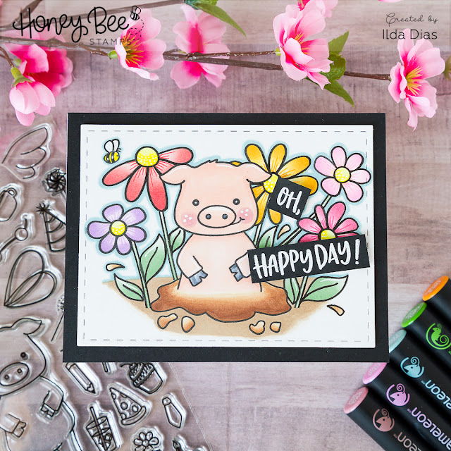 Go Hog Wild on Your Birthday Card ft. Pinky the Pig by Ilovedoingallthingscrafty