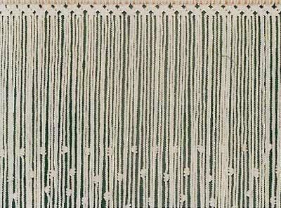 Cortina interior algodon macrame