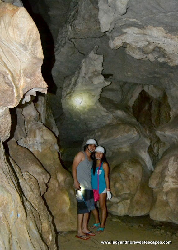 Lady and Ed in Ugong Rock Cave in Puerto Princesa
