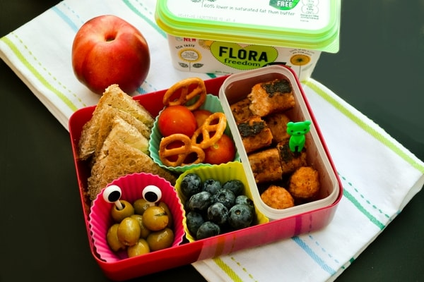 WEDNESDAY MEAL PLAN - vegan kids lunch box