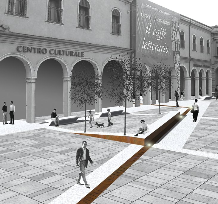 Progetto Di Arredo Urbano.Un Centro Due Piazze San Dona Di Piave
