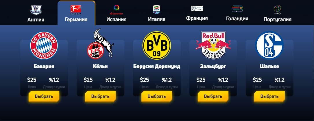 Инвестиционные планы FootballFever 2