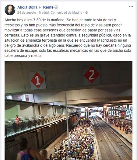 Atocha a las siete y media de la mañana en Madrid