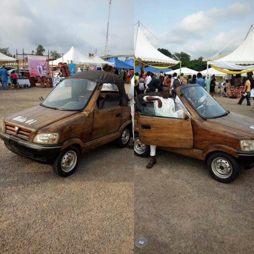 Nigerian man drives his invented car from Niger State to 2016 Expo ...