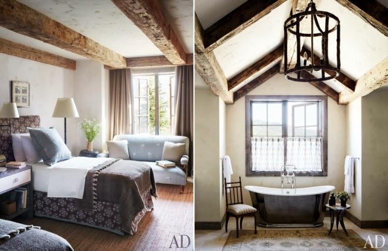 Drewniana rezydencja z kamiennym kominkiem, wystrój wnętrz, wnętrza, urządzanie domu, dekoracje wnętrz, aranżacja wnętrz, inspiracje wnętrz,interior design , dom i wnętrze, aranżacja mieszkania, modne wnętrza, styl rustykalny, styl klasyczny, drewniany dom, sypialnia