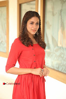 Actress Lavanya Tripathi Latest Pos in Red Dress at Radha Movie Success Meet .COM 0033.JPG