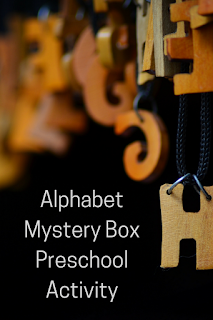 Alphabet Mystery Box Preschool Activity