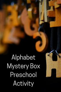 Alphabet Mystery Box Preschool Activity
