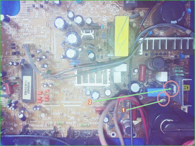 Gambar Mesin bagian dalam TV 29-Inch Model: 29FC1CL