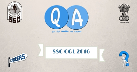 SSC CGL Recruitment Exam 2016