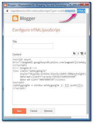 Sticky Widget In Blogger