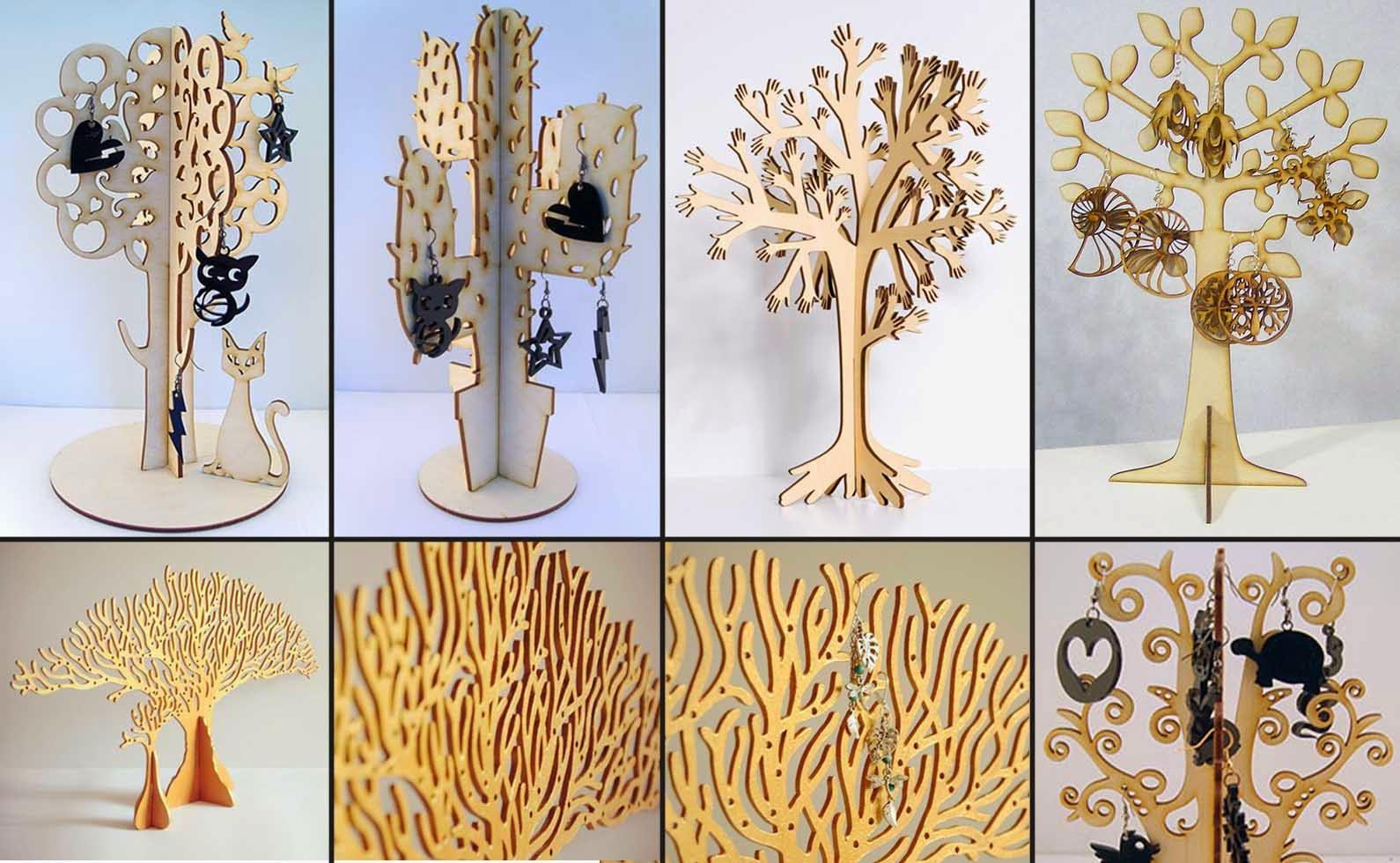 Подставка для сережек и украшений в виде дерева