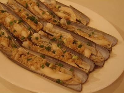 蒜蓉蒸竹节蚌