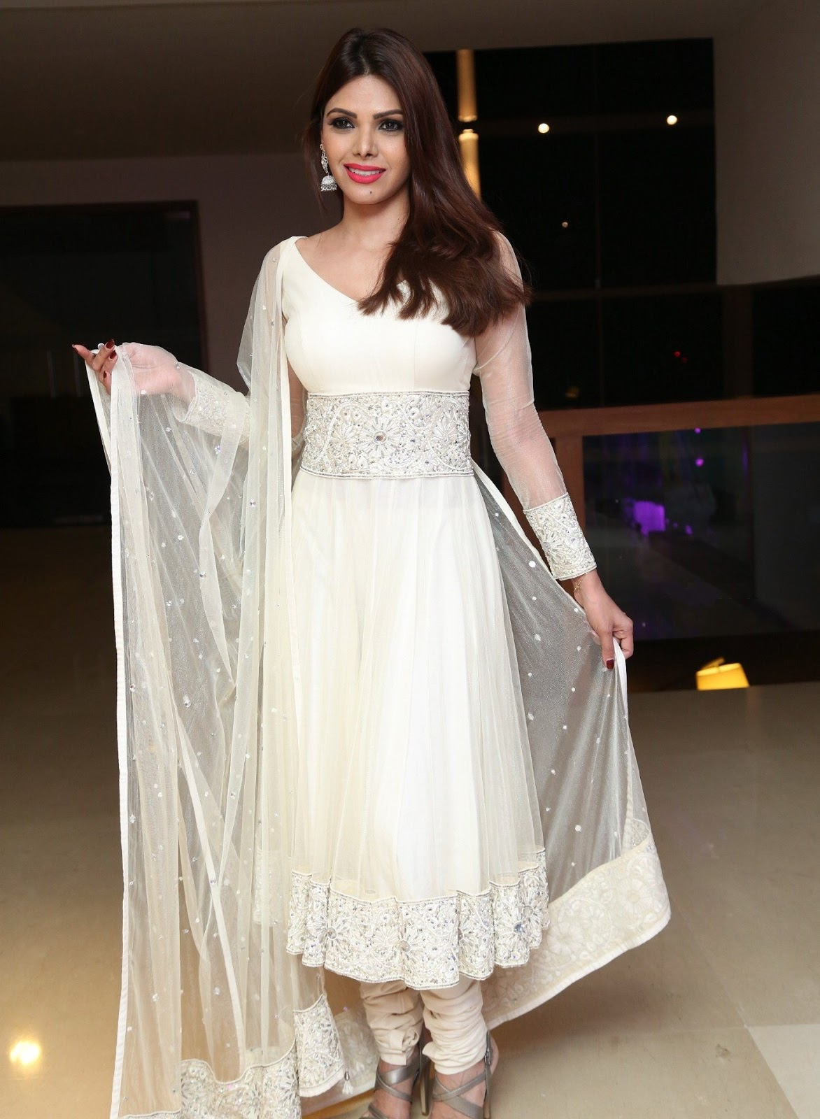 Sherlyn Chopra Looks Super Hot In White Dress At Dj Inayah -7209