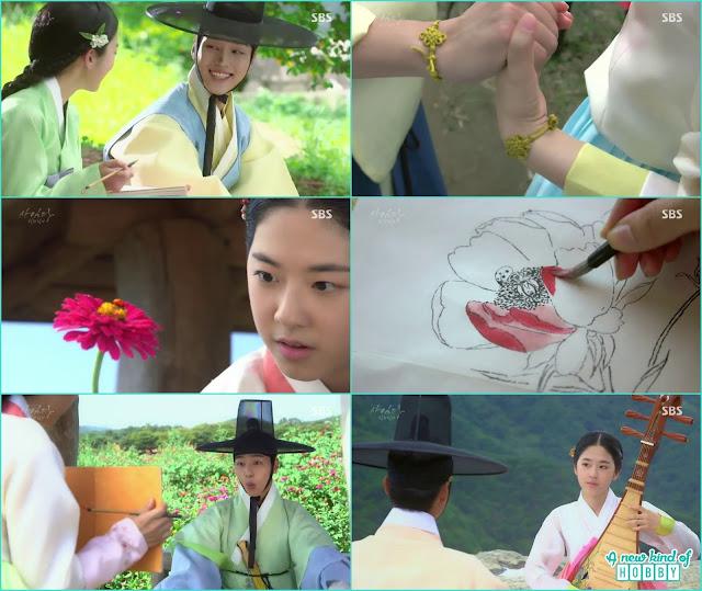 couple bracelet - Romantic Moments & Kisses of Lady Shin & lee Gyeom - Saimdang, Light's Diary