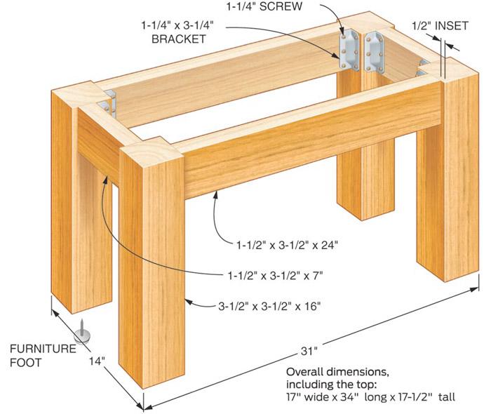 Pallet For Home Fern Imprint Concrete Tabletop