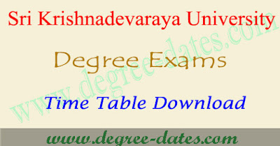 SK University degree time table 2018 sku ug exam results