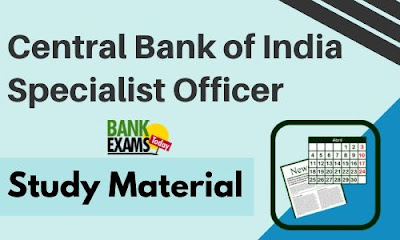 Central Bank of India Specialist Officer