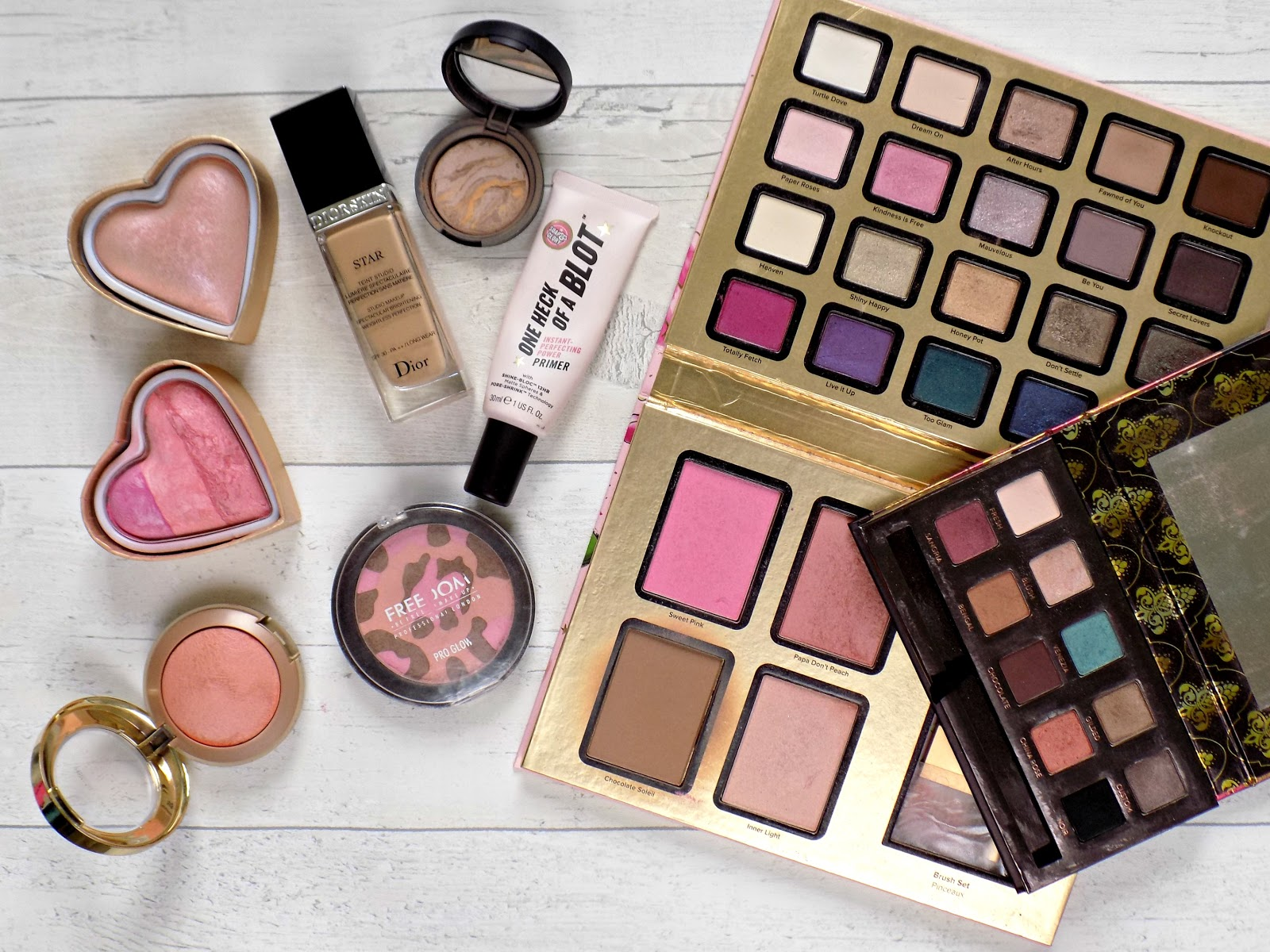 Shopping my stash makeup products