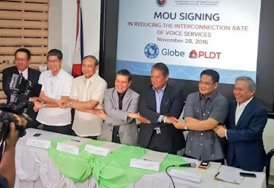 Lower Call Rates Between PLDT and Globe Starting January 1, 2017