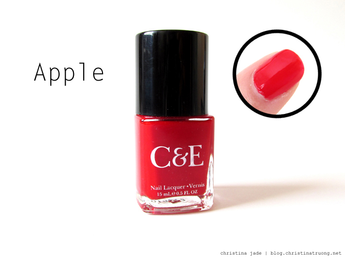 Crabtree & Evelyn Nail Polish Collection Swatches Apple Review