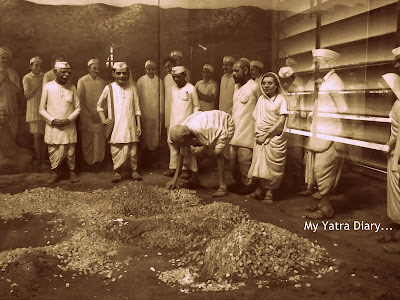 Salt Satyagraha or Dandi march in Sabarmati ashram, Ahmedabad - Gujarat