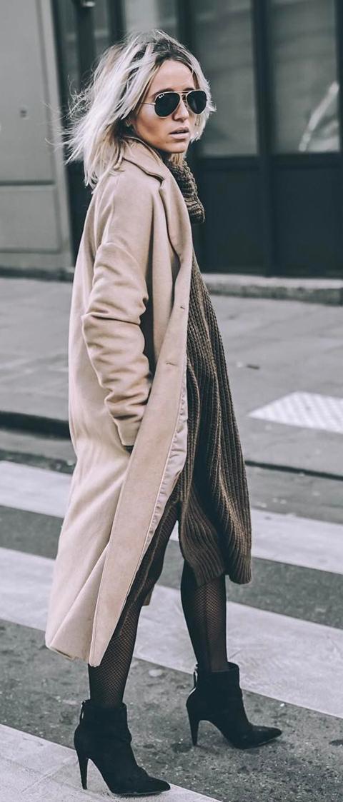 beige coat style