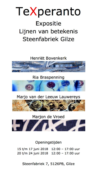 Textielplatform Lijnen Van Betekenis Expositie Van Texperanto
